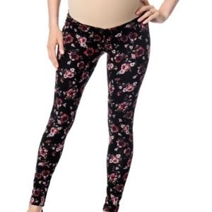 Motherhood maternity Secret fit floral leggings